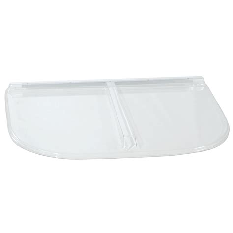 plastic window well covers shop shape products 41 1 2 in x 25 1 2 in x 2 in plastic u