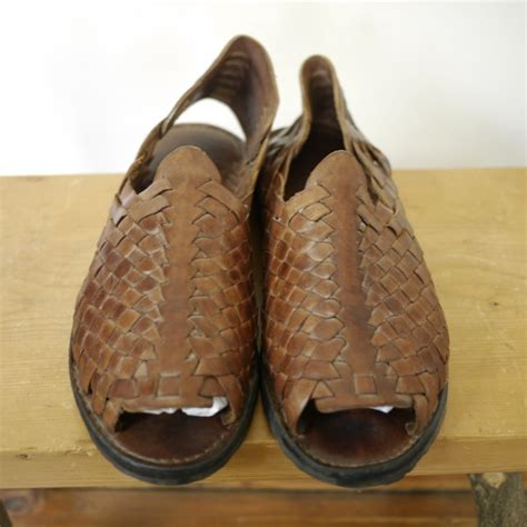 mens leather tire tread huarache sandals flats strappy braided shoes   ebay
