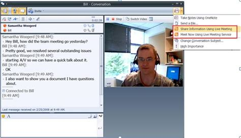 Office Live Meeting by Connect To Live Meeting Via Office Communicator Lync
