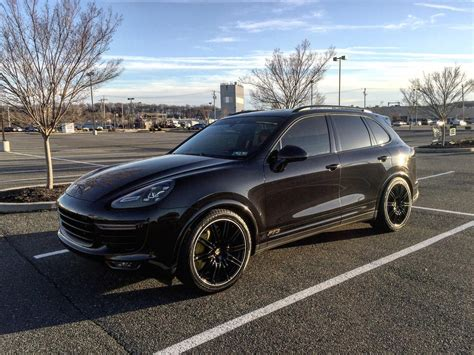 porsche black 2016 pics 2016 cayenne turbo s in black rennlist discussion