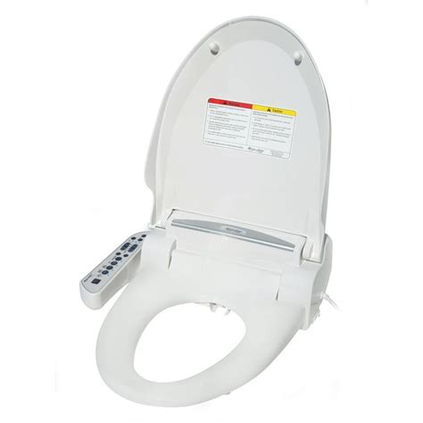 toilet with bidet and dryer spt elongated magic clean bidet with dryer in white sb