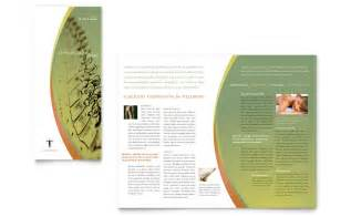 massage amp chiropractic tri fold brochure template word