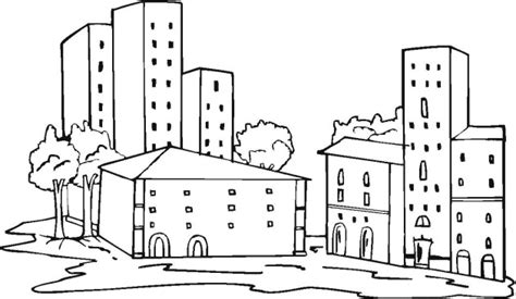apartment building coloring page free buildings coloring pages