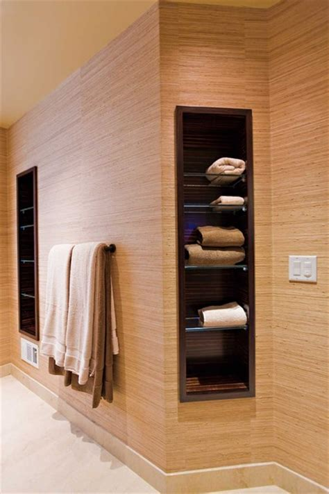 Bathroom Towel Shelving Towel Storage Eclectic Bathroom San Francisco By Bill Fry Construction Wm H Fry