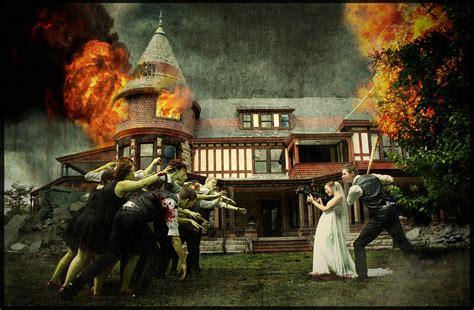 themes zombie zombie themed wedding photo 401ak47 a zombie survival plan