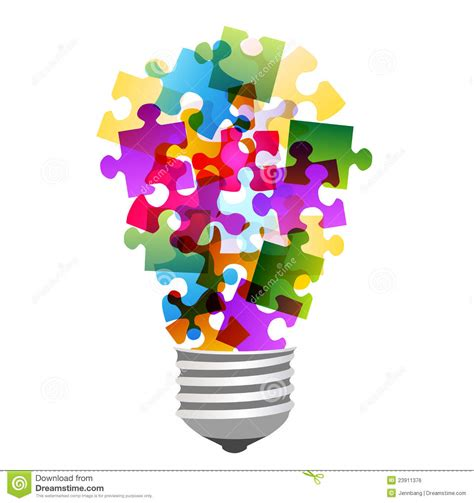 Light Bulb Riddle by Lightbulb Puzzle Royalty Free Stock Image Image 23911376