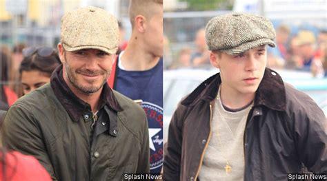 48316 Jaket Anak David Jaket Anak kompak david dan beckham pose ganteng pakai topi kabar berita artikel gossip