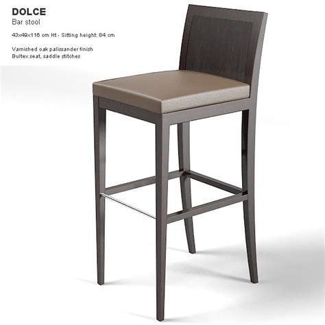 bar stools modern contemporary modernature dolce barstool 3d model