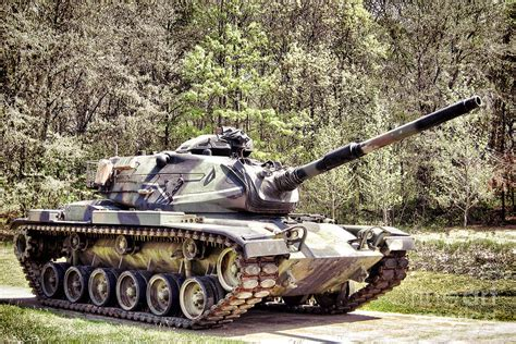 Camouflage Home Decor by M60 Patton Tank Photograph By Olivier Le Queinec