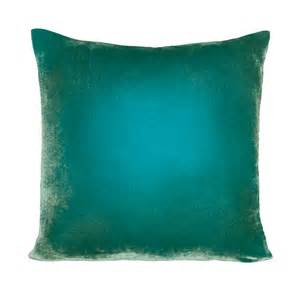luxury teal blue ombre velvet decorative throw pillow by