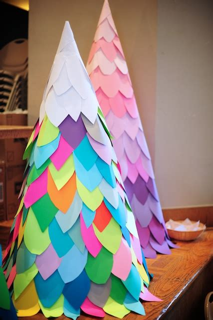 large paper christmas tree 24 diys on how to make a paper tree guide patterns