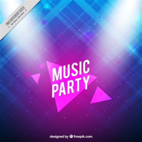 party music abstract and shiny music party background vector free