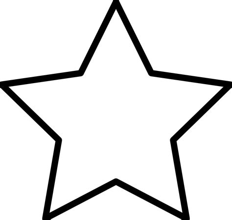 printable star outline free printable star coloring pages for kids
