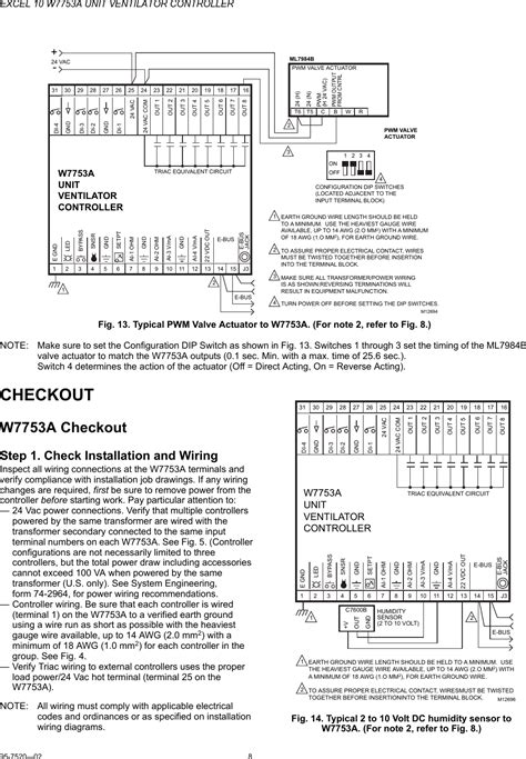 honeywell excel 10 w7753a users manual 95 7520a 10 unit
