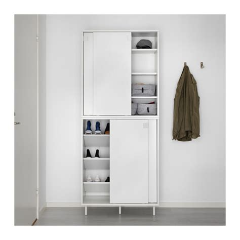 White Kitchen Storage Cabinet by Ikea Mackapar Shoe Cabinet Storage New Ebay