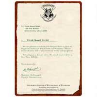Hogwarts Acceptance Letter Warner Brothers Harry Potter Merchandise On Sale For 2015 Cyber Monday For The Of Harry