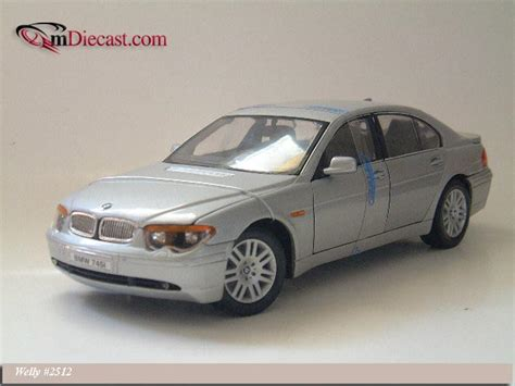 Diecast Bmw 745i By Welly Original welly 2002 bmw 745i silver 2512 in 1 18 scale mdiecast