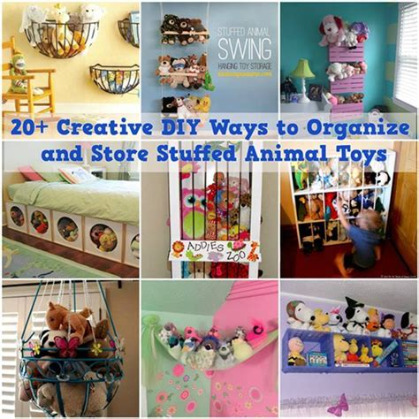 20 creative ways to organize your work space style 20 creative diy ways to organize and store stuffed animal