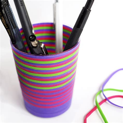 rubber st holder rubber band pencil holder family crafts