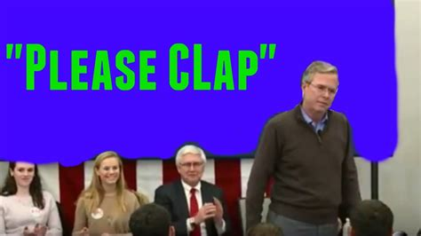 Bernnie Sanders by Jeb Bush Says Quot Please Clap Quot News Cycle Youtube