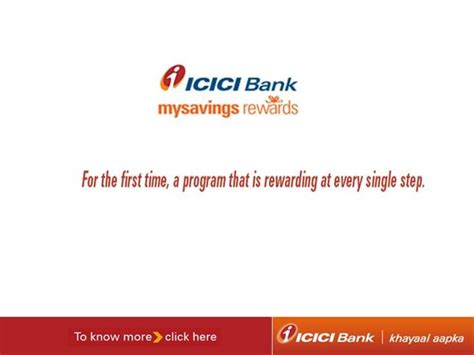 Icici Bank Introduces Mysavings Rewards Program Authorstream