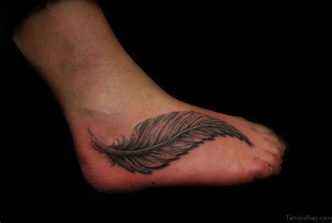 feather foot tattoo 60 beautiful feather tattoos on foot