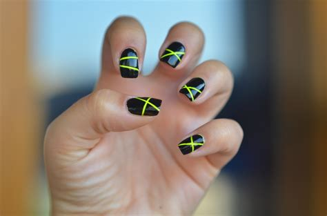 tutorial nail art striping neon lines nail art with striping tape tutorial