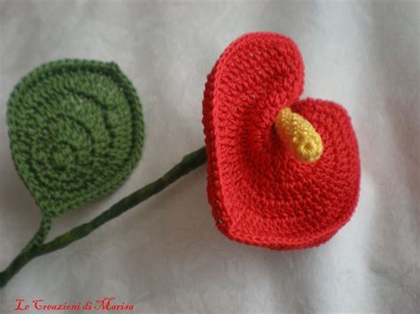 fiore anturium fiore anthurium ad uncinetto per la casa e per te