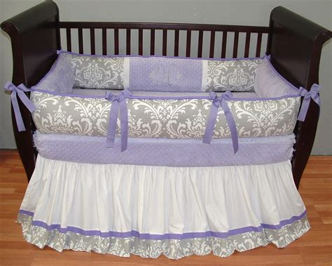 lavender crib bedding sets brooklyn lavender baby bedding