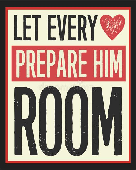 let every prepare him room let every prepare him room vintage poster stock vector illustration of