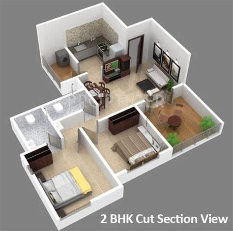 2 Bhk House Plans 800 Sqft 800 Sq Ft 2 Bhk Floor Plan Image Natraj Vela Enclave Available Rs 4 400 Per Sqft For
