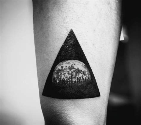 triangle tattoo design 90 triangle designs for manly ink ideas