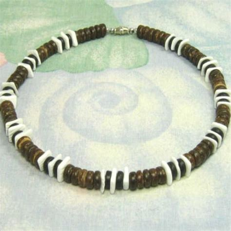 new 4 pack mens designer puka shell necklaces 18 inch