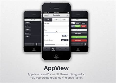 Iphone Ui Themes | 30 ui psd files for smartphones web3mantra