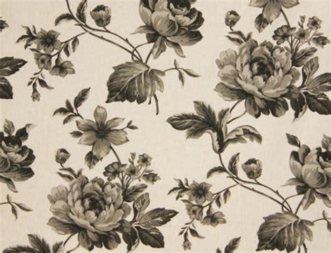 overgordijnen zwart gordijnen kamerhoog bloem zwart wit