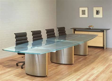 Glass Top Meeting Table Executive Conference Tables Custom Glass Conference Table Stoneline Designs