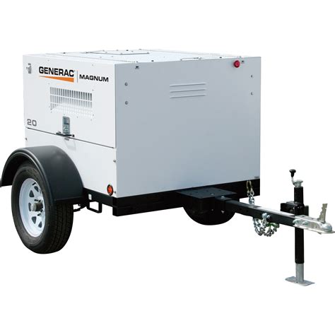mobile generator generac towable mobile diesel generator 20 kw 19 kw