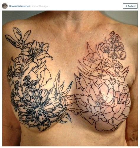 tattooed breasts 34 best images about cicatrices tatou 233 es on
