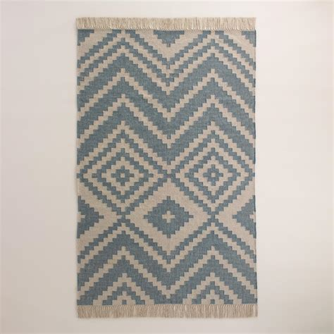 Gray And Blue Area Rug Oyster Gray And Blue Kilim Desert Yuma Area Rug World Market