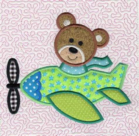 embroidery and applique designs airplane critters applique
