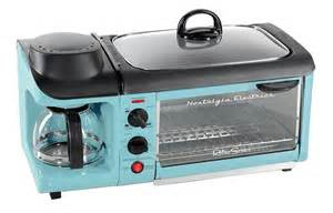 3 In 1 Toaster Oven Griddle And Coffee Maker This 3 In 1 Retro 1950s Breakfast Station Brings Nostalgia