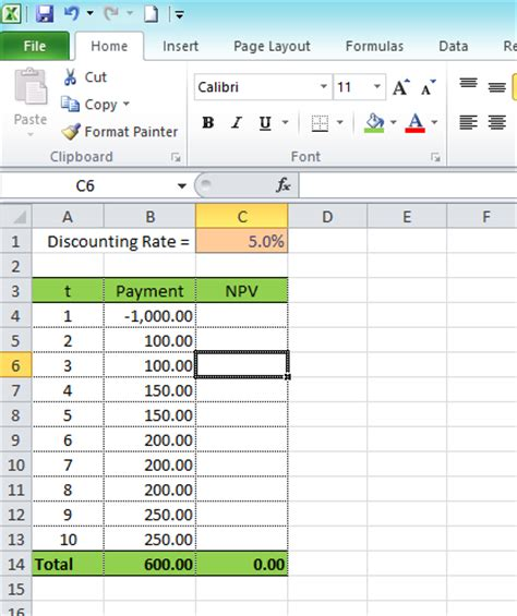 Calculating Net Present Value (NPV) using Excel   Excel