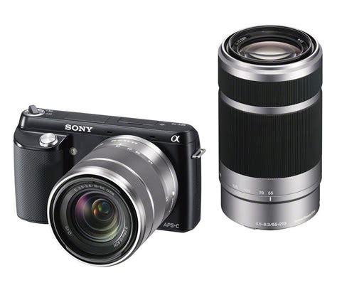 kamera digital sony kamera sony nex f3y b nex f3 dengan sel1855 sel55210 lens