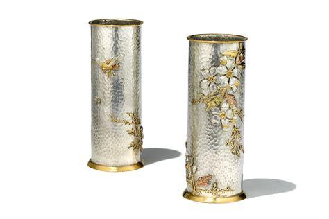 Silver Coloured Vases by Spill Vases Lucien Gaillard C 1890 Wartski