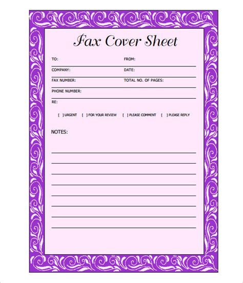 free cover sheet template fax cover sheet free premium templates