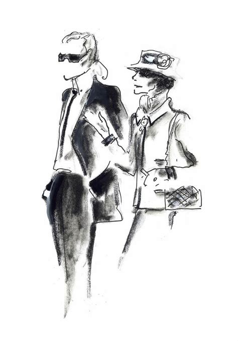 Karl Lagerfeld Original an imaginary meeting between coco chanel and karl
