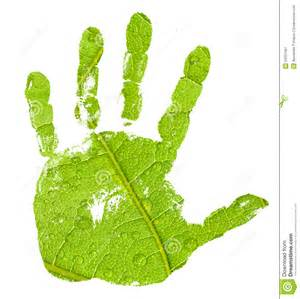 hand imprint green leaf background royalty free stock photography image 24201087