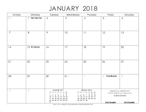 printable journal calendar 2015 download the 2018 ink saver calendar from vertex42 com