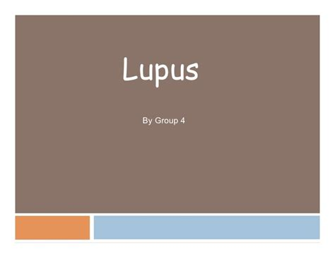 Lupus Ppt Sle Powerpoint Presentation Template