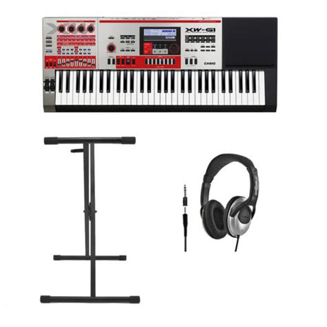 Keyboard Casio Xw G1 casio xw g1 groove synthesizer with stand and headphones at gear4music